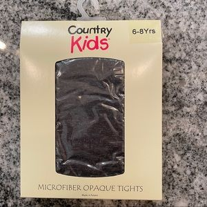 6-8 Tights Country Kids Opaque Microfiber Charcoal